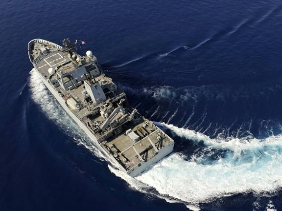 HMS Echo: Photo credit UK MOD