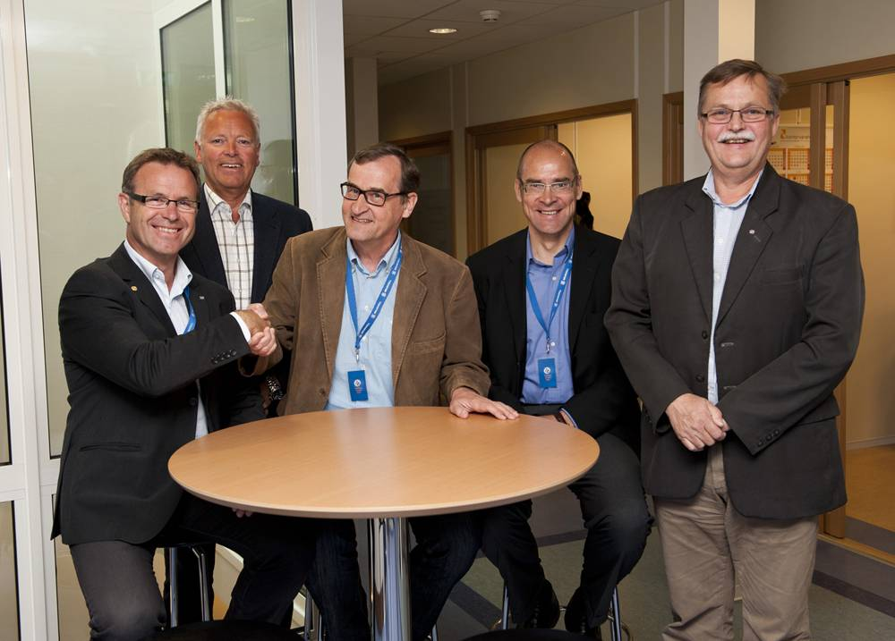 File  Brunvoll and Steerprop has decided to enter in to a strategic alliance. Here from the two companies meeting and agreement in Molde earlier this summer. From left, Managing Director at Brunvoll, Odd Tore Finnøy, Marketing Director at Brunvoll, Per Olav Løkseth, Managing Director Jarmo Savikurki and Vice President Jasto Tolonen from Steerprop and Technical Director at Brunvoll, Knut Andresen.