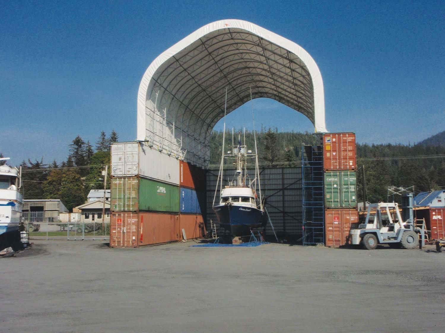 Marine Storage Solutions With Clearspan Fabric