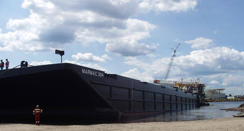 Mcdonough launches new ocean going barge