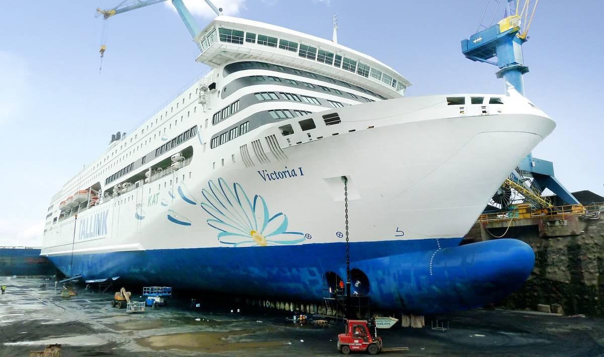 Tallink Cruise Ship Receives Maintenance At BLRT