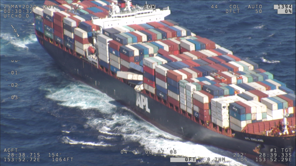 Ship loses dozens of containers off NSW coast
