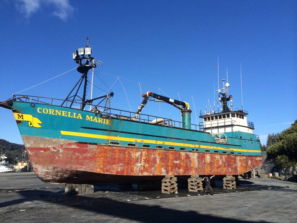 Deadliest catch the quest to coat cornelia marie for Crab fishing boat