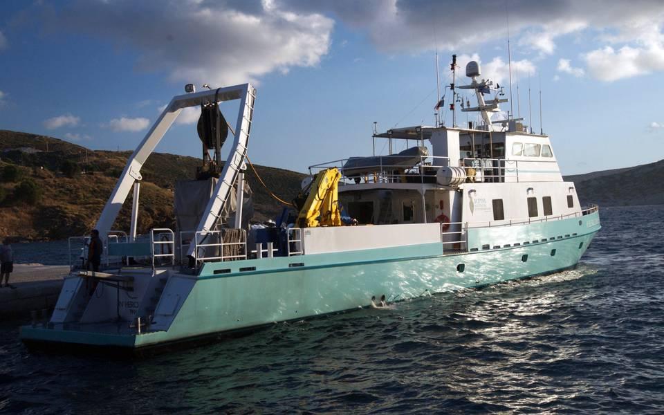 Ερευνητικό σκάφος RV Hercules του Ναυτικού Ιδρύματος RPM (Φωτογραφία του Βασιλείου Μεντογιάννη / Ναυτικό Ίδρυμα RPM)