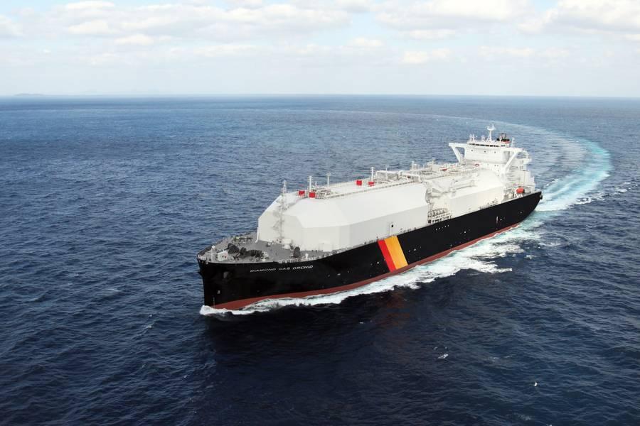 Ορχιδέα αερίου διαμαντιών. Φωτογραφία: Mitsubishi Shipbuilding Co.