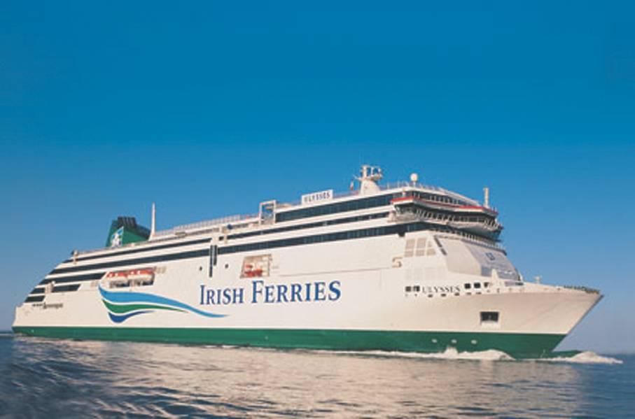Το νέο κρουαζιερόπλοιο της Irish Continental Group plc (ICG) θα φιλοξενήσει 1.800 επιβάτες και πλήρωμα, με ικανότητα για 5.610 μετρητές λωρίδων εμπορευματικών μεταφορών, το οποίο παρέχει τη δυνατότητα μεταφοράς 330 φορτηγών μονάδων ανά ιστιοπλοΐα. (Φωτογραφία ευγένεια © Irish Ferries)