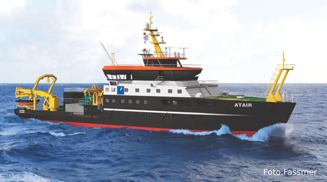 Το νέο Atair από το FASSMER WERFT θα τεθεί σε λειτουργία το 2020. (Photo courtesy © Fassmer-Werft)
