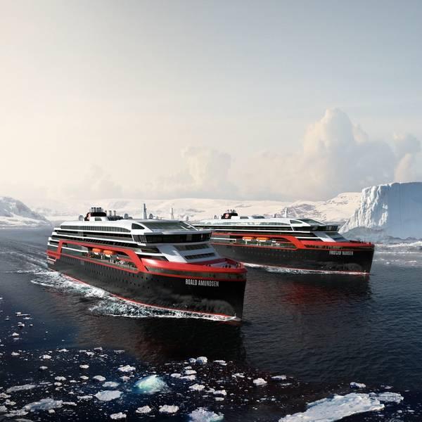 Τα υβριδικά σκάφη του Hurtigruten. (Εικόνες Ευγένεια: Hurtigruten)