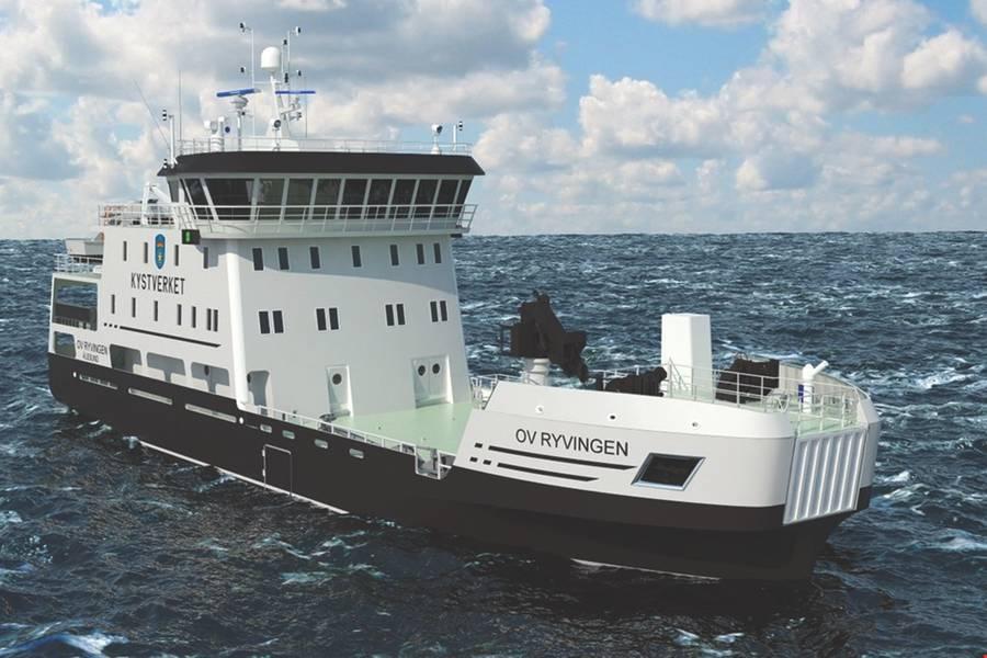 Береговая охрана с батарейным питанием: OV Ryvingen, ссылка клиента Rolls-Royce (Изображение: Rolls-Royce)