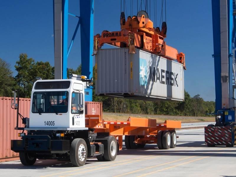 Интермодальные контейнерные операции в портах SC (CREDIT: порты SC)