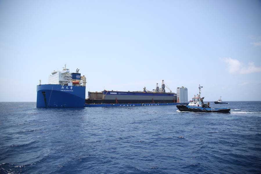 Плавучие доки прибывают в DSCu (Фото: Damen Shipyards)
