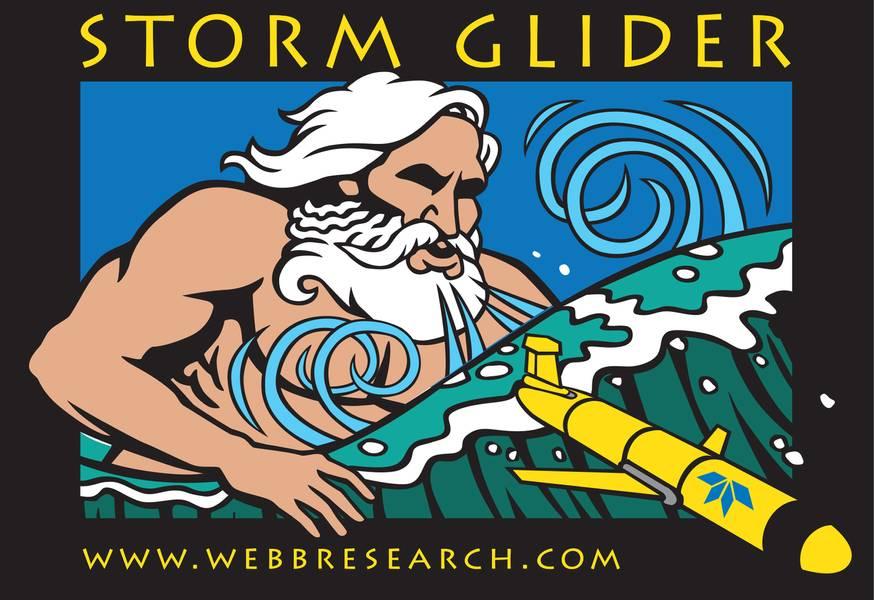 Рис.3: Планер Teledyne Slocum для мониторинга шторма. Предоставлено: Teledyne Marine.