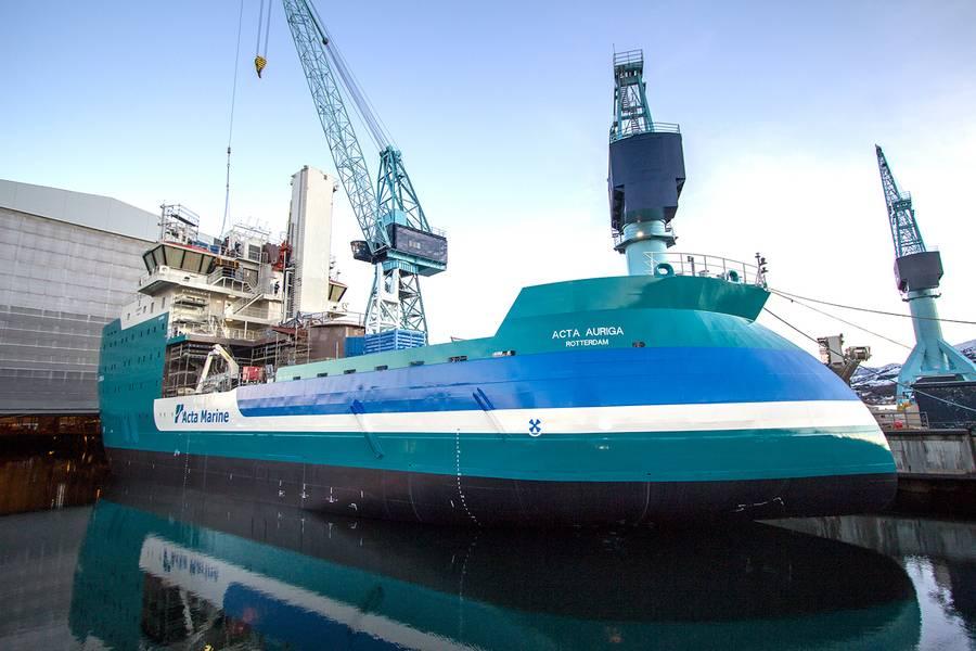 الأخت سفينة أكتا أوريغا قيد الإنشاء حاليا في أولستين فيرفت (الصورة: أولستين المجموعة)