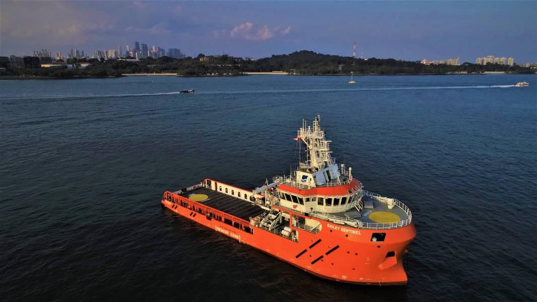 بايلي سنتينل ، التي بدأت عملياتها في بحر الشمال. (الصورة: الحارس البحري)
