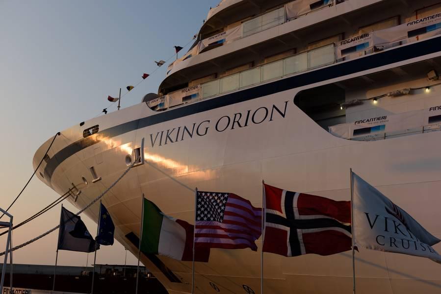 تم تسليم Viking Orion ، وهي السفينة السياحية الخامسة للمحيطات للمالك Viking Cruises ، في 7 يونيو من حوض بناء السفن في Fincantieri في أنكونا (الصورة: Fincantieri)