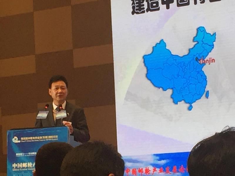 هو جين تاو شيانغ رئيس تيانجين شينغانغ بناء السفن. الصورة: جريج تراوثاين