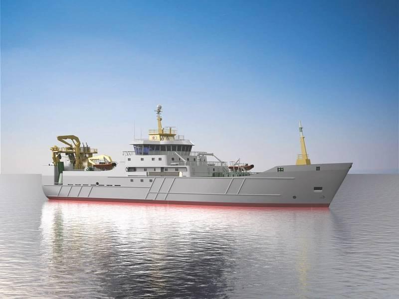 """سفينة اختراق: تم تصميم وبناء السفينة الجديدة من تصميم شركة """"بيلاجيو"""" و """"إيه إس دي"""" لتصميم السفن من قبل شركة """"هافايارد شيب تكنولوجي"""" (الصورة: تكنولوجيا السفن في Havyard)"""