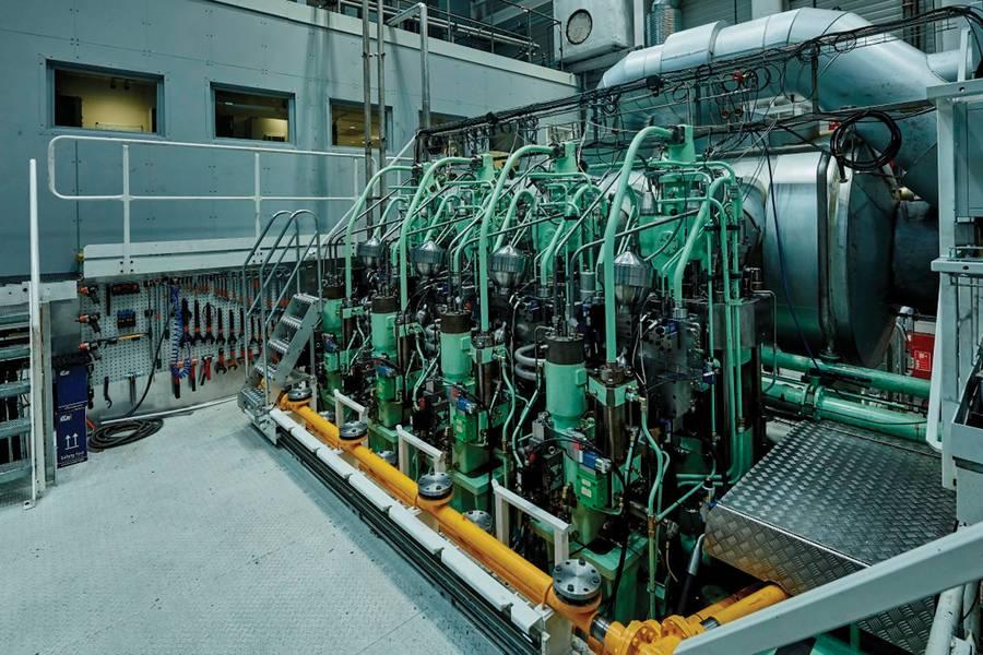 محرك بحث في مركز أبحاث كوبنهاجن مجهز لاستخدام غاز البترول المسال. الصور: © MAN ES