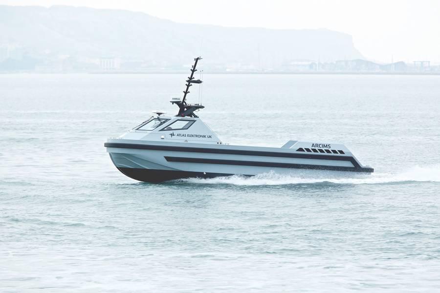 مشروع MAXCMAS ، شراكة بين Rolls-Royce و LR وأكاديمية Warsash البحرية وجامعة كوينز بلفاست وأطلس الكترونيك المملكة المتحدة. (الصورة مجاملة رولز رويس)