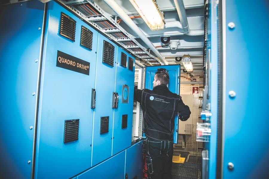 ओडिन की आई: डीसी ग्रिड कैबिनेट शांत स्थायी चुंबक मोटरों के गियरलेस उपयोग को सक्षम बनाता है (फोटो: एनईएस)