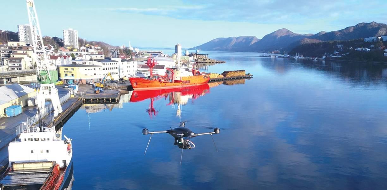 छवि: नॉर्वेजियन समुद्री प्राधिकरण / नॉर्डिक मानवरहित (ड्रोन)