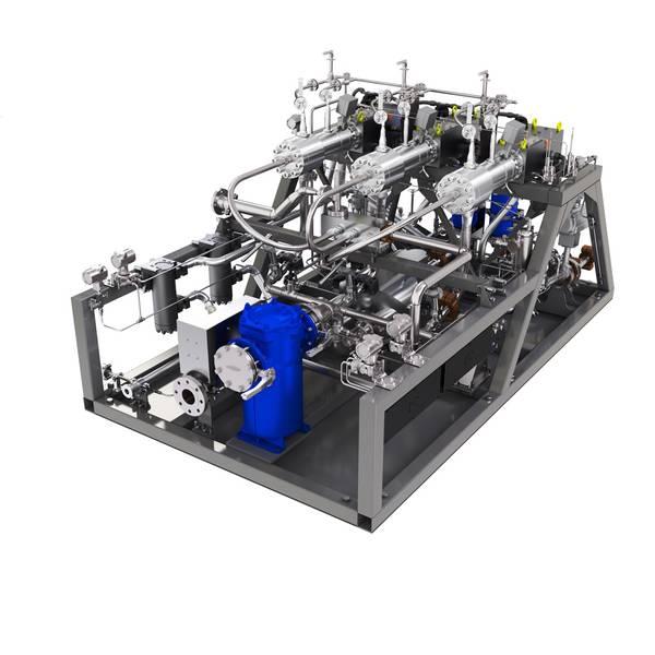 नया परीक्षण इंजन सेट-अप में मैन डीजल और टर्बो के एमई-जीआई पम्प वापरिजर यूनिट भी शामिल होगा। (फोटो: MAN डी एंड टी)