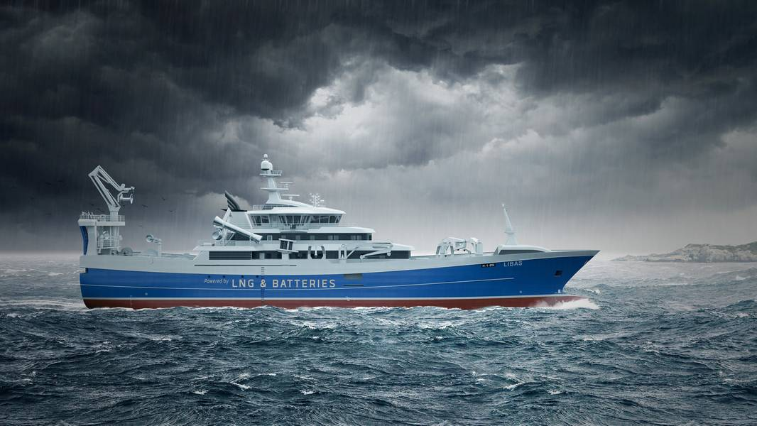 पर्स सीनेर न्यूबिल्डिंग का चित्रण (कॉपीराइट नमक जहाज डिजाइन)