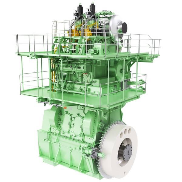 मानव बीएंडडब्ल्यू 2 एस 5 एमई-सी-जीआई टेस्ट इंजन की देख-रेख HHI-EMD के लिए बाध्य है। (फोटो: MAN डी एंड टी)