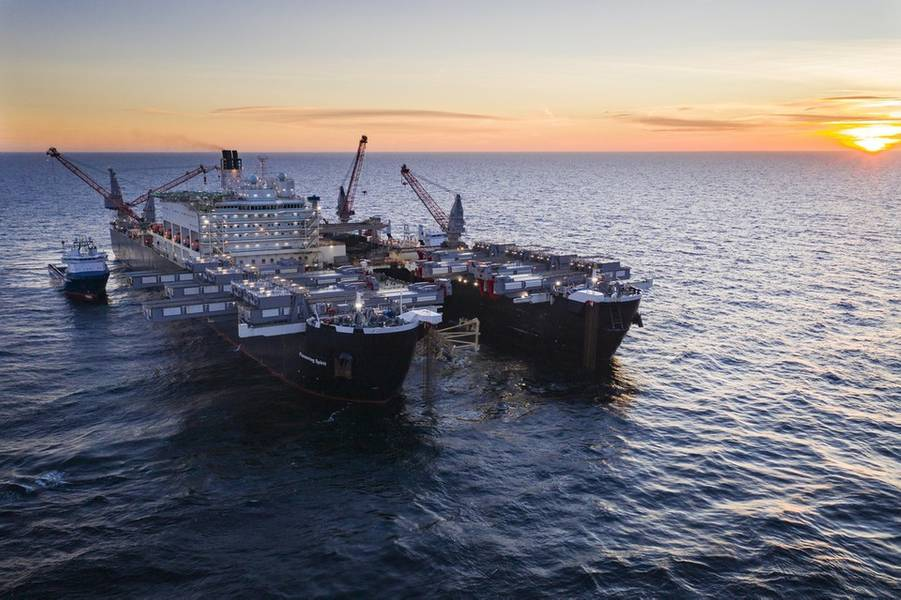 先駆的な精神がスウェーデンの海域にパイプラインを設置(Photo:Nord Stream 2)