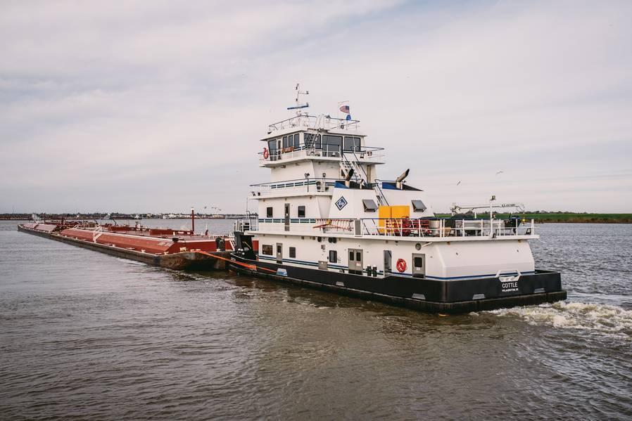 内陆推船和驳船。来源柯比公司