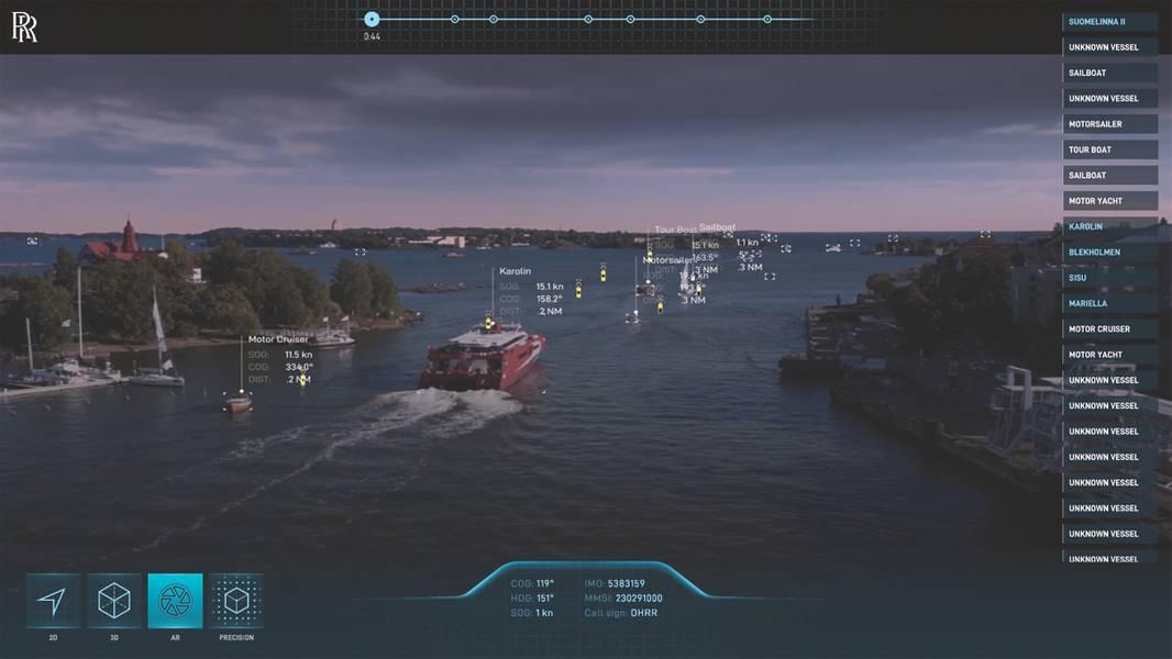 劳斯莱斯的智能意识(IA)系统使用数据收集来提高航行安全性和运营效率。 (照片由劳斯莱斯提供)