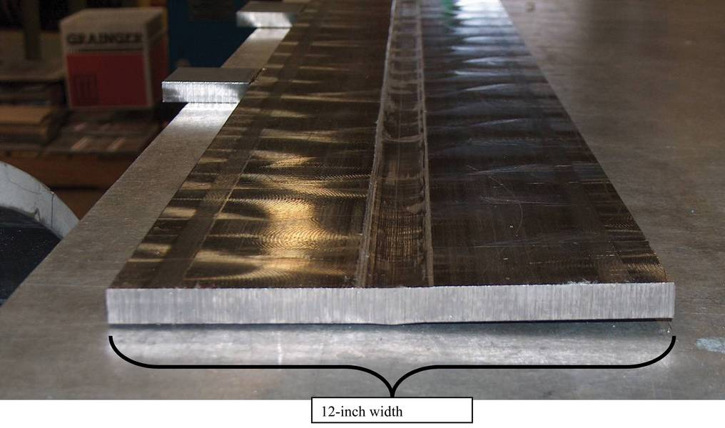 图3完成了厚度为.5英寸(12毫米)的CP钛的TSW。注意最小的热变形。图片:美国宇航局