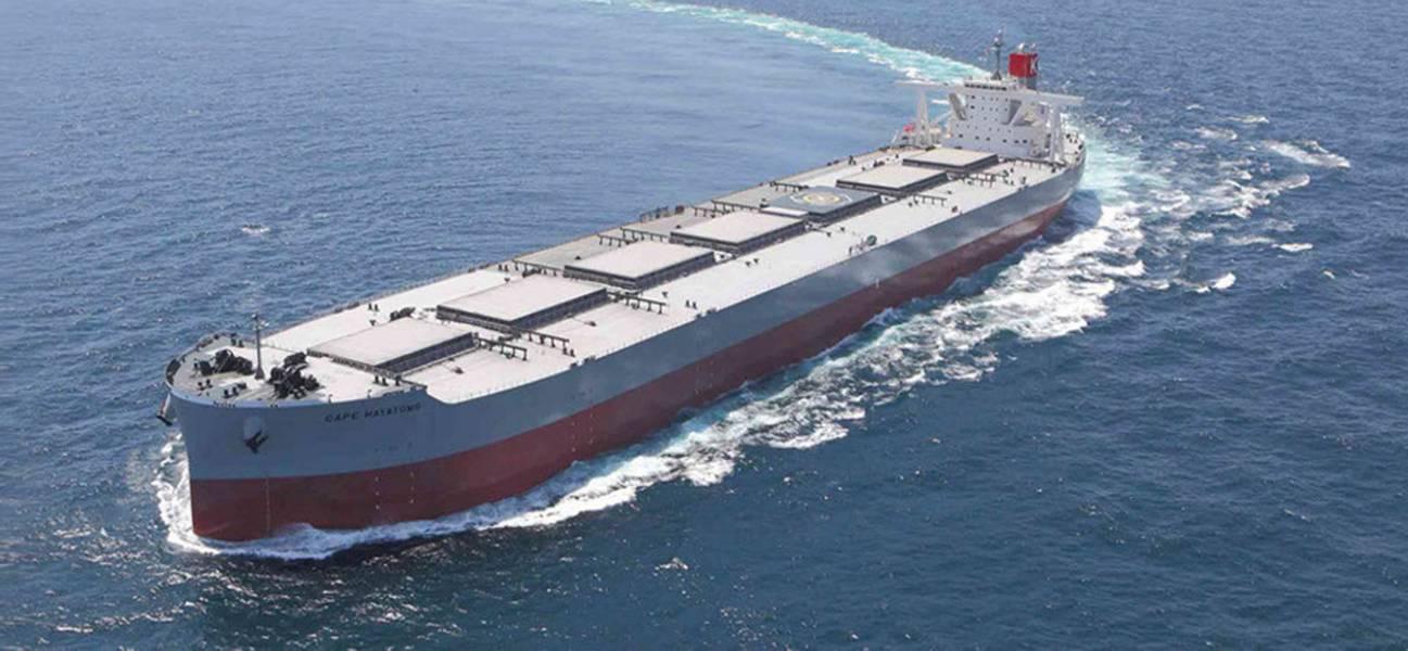 """干散货船是"""" K""""线船队的大部分(195艘船/ 2530万载重吨)。照片:"""" K""""线"""