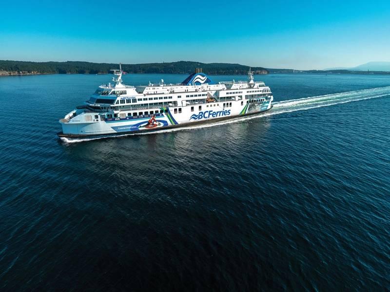 沿海的灵感。照片由BC Ferries提供