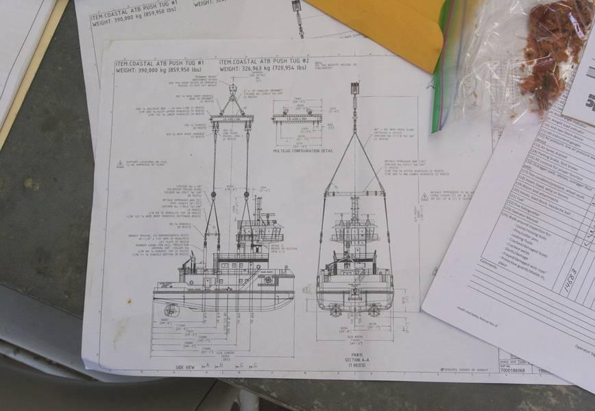 詳細な図面と作業計画は事前に用意されています。 (写真:Haig-Brown / Cummins)