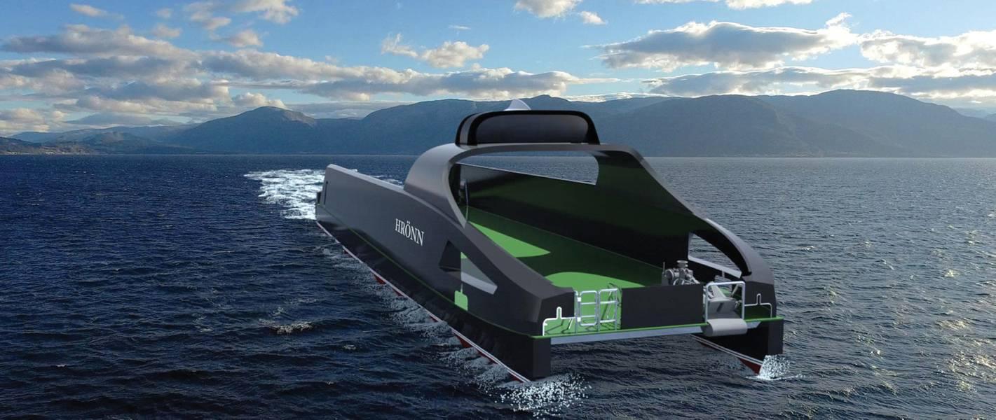 康斯伯格已经开始研究自主权,包括无人驾驶的多用途公用事业船赫伦(Hrönn),今年将开始为海上作业提供服务。 (照片由DNV GL / Kongsberg Maritime提供)