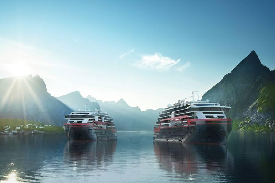 Hurtigruten计划巡航到各种新目的地,包括挪威峡湾,斯瓦尔巴群岛,俄罗斯,南美洲和南极洲。照片:Hurtigruten