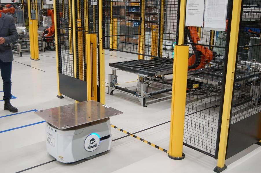 Amazon-Stil: Anbieterroboter warten das Robotermontageteam. Bildnachweis: William Stoichevski