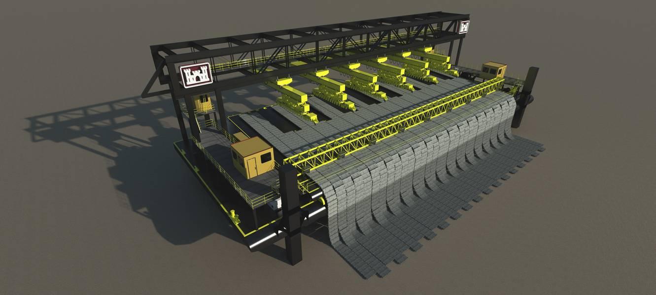 A BHG esteve envolvida em um projeto para projetar uma plataforma robótica de lançamento do Mat Boat, ajudando a tornar um trabalho perigoso mais seguro. Crédito: Bristol Harbour Group, Inc.