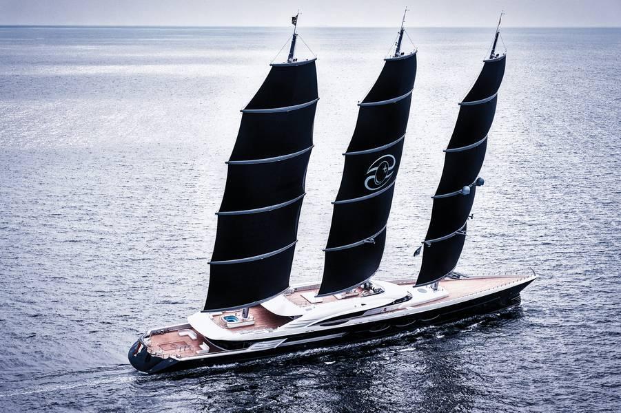 S / Y Black Pearl Foto cortesía de Oceanco