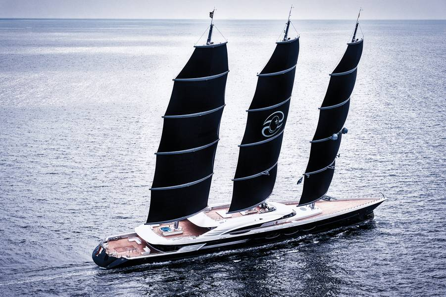 S / Y Black Pearl Photo مجاملة من Oceanco