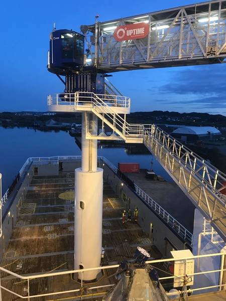 """DEPOIS: Island Clipper: Island Offshore de Ulsteinvik, Noruega, teve sucesso com as conversões. """"antes e depois"""". Fotos: Ilha Offshore"""