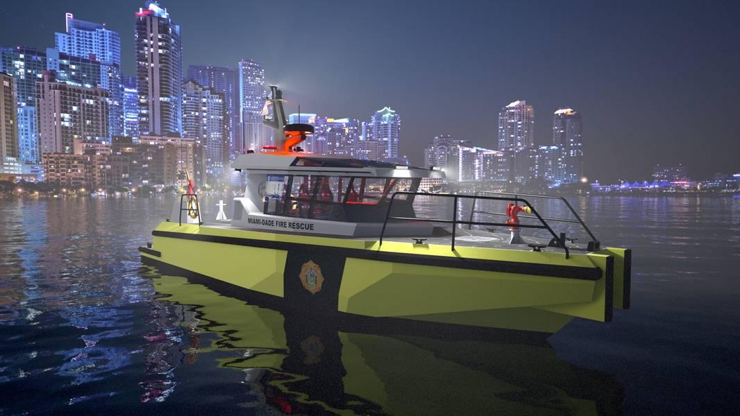 Das neueste zukunftsorientierte Arbeitsboot von Metal Shark. Bildnachweis: Metal Shark