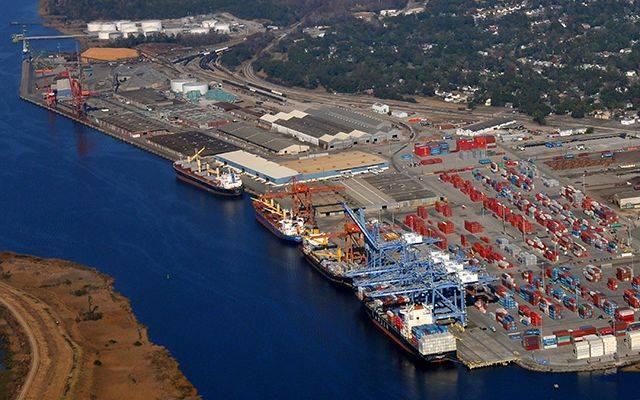 Datei Bild: Der Hafen von Wilmington, NC (CREDIT: NC-Ports)