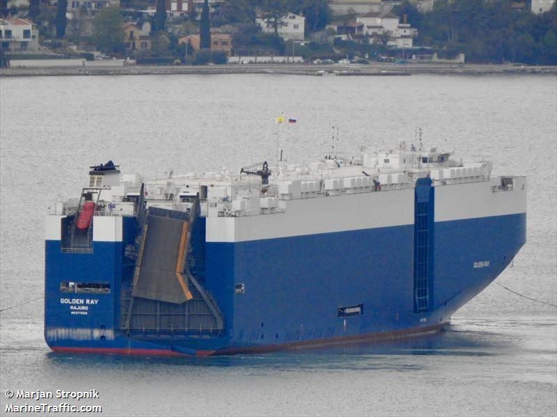 Datei Bild: Die M / V GOLDEN_RAY / CREDIT MarineTraffic.Com / © Marjan Stropnik
