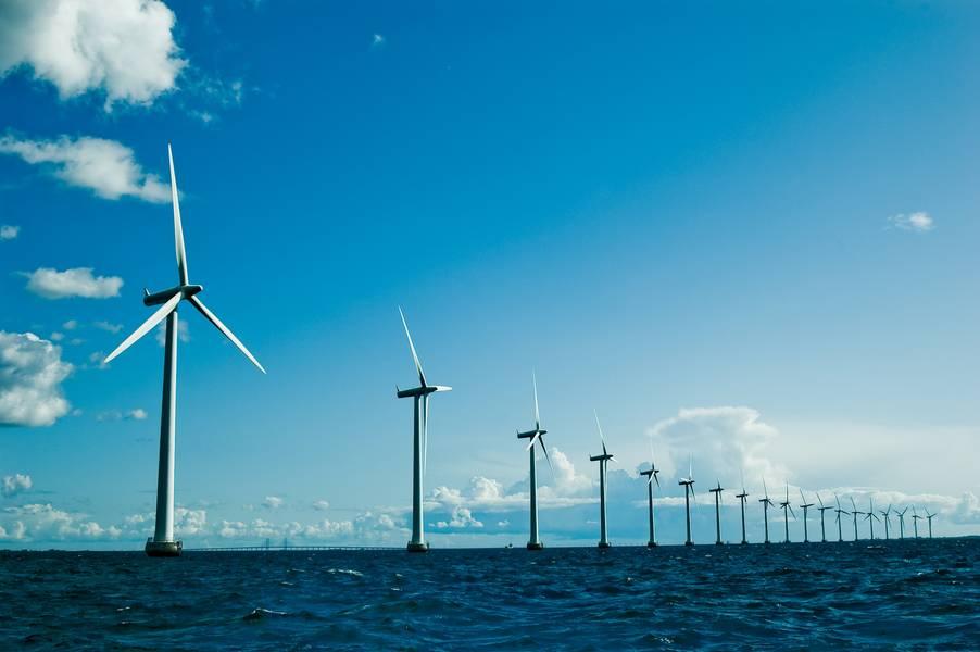 Datei Bild: Ein typischer Offshore-Windpark. Kredit: AdobeStock / Yauhen Suslo