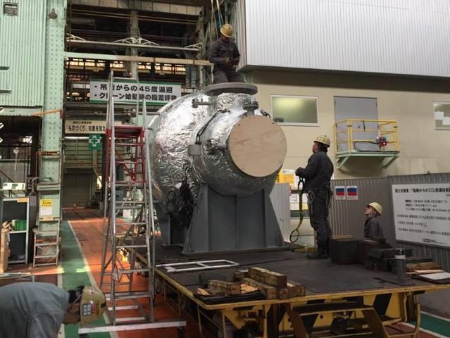 Der SCR-HP-Reaktor in Mitsuis Werk Tamano (Foto: MAN Energy Solutions)