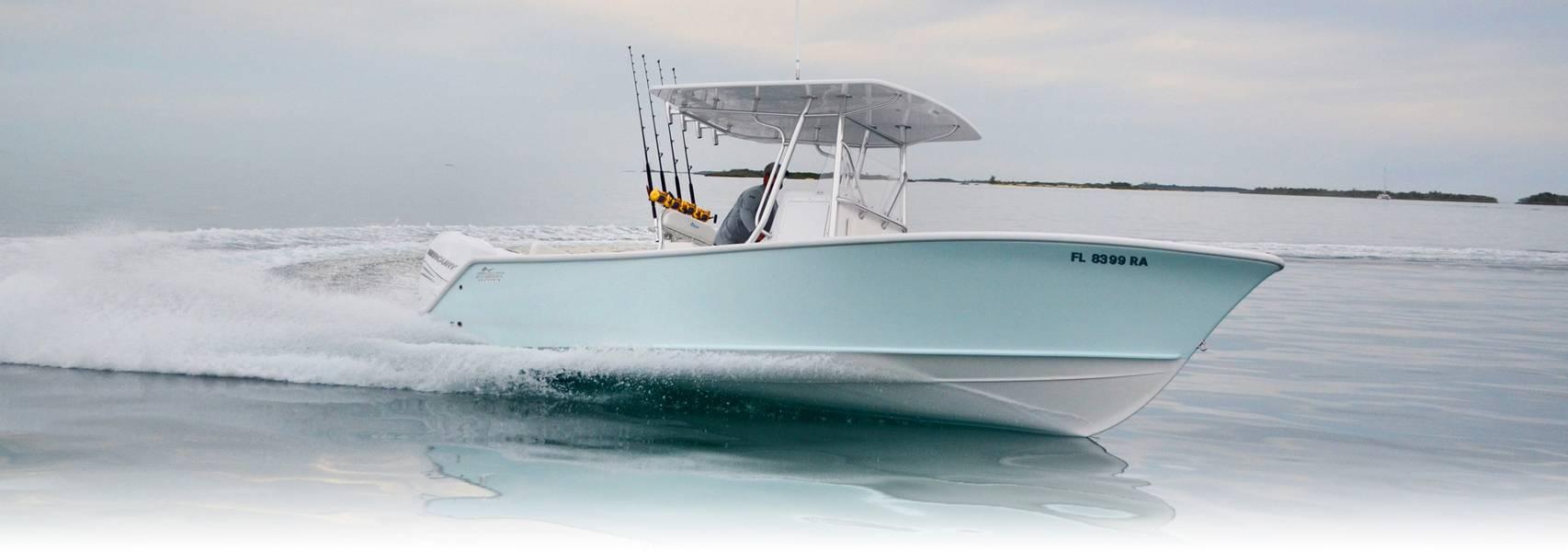 Die Stuart Boatworks 27 war ein Gamechanger für Ocean5, der dieses Jahr zum ersten Mal auf der Miami International Boat Show gezeigt wurde. Bild Courtesy Ocean 5 Naval Architects.