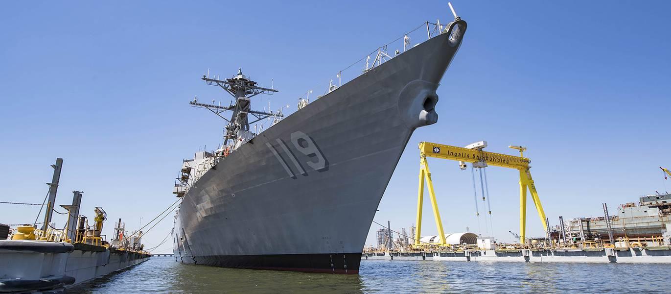 Die zukünftige USS Delbert D. Black (DDG 119) (Datei Foto: Huntington Ingalls Industries)