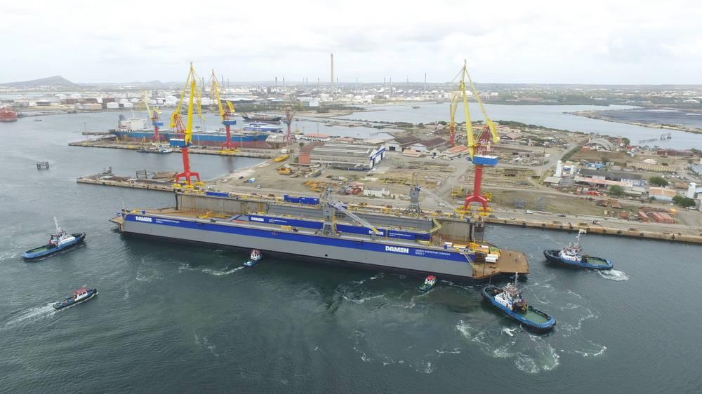 Docas flutuantes chegam ao DSCu (Foto: Damen Shipyards)